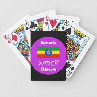 Baraja De Cartas Bicycle Bandera de Etiopía y diseño de la lengua