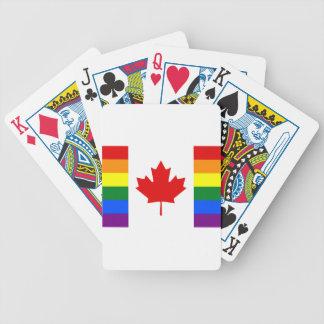 Baraja De Cartas Bicycle Bandera del arco iris de Canadá