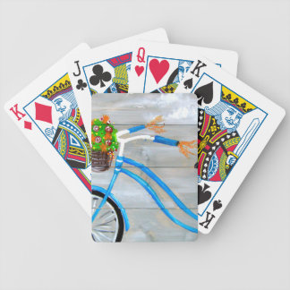 Baraja De Cartas Bicycle Bici azul Zazzle