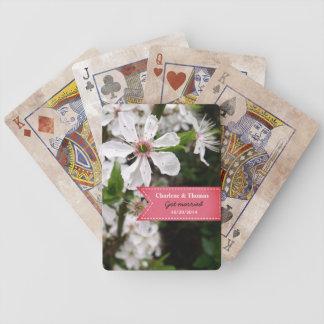 Baraja De Cartas Bicycle Boda blanco hermoso del flor