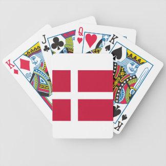 Baraja De Cartas Bicycle Buena impresión de la bandera de Dinamarca del