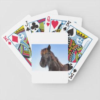 Baraja De Cartas Bicycle Cabeza del retrato del caballo negro del Frisian