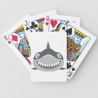 Baraja De Cartas Bicycle cara feliz linda del tiburón