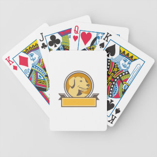 Baraja De Cartas Bicycle Círculo amarillo de la cabeza del golden retriever