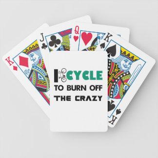Baraja De Cartas Bicycle Completo un ciclo para consumir el loco, bicicleta