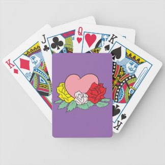 Baraja De Cartas Bicycle Corazón y rosas