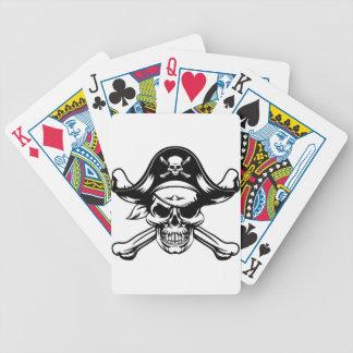 Baraja De Cartas Bicycle Cráneo y bandera pirata del pirata