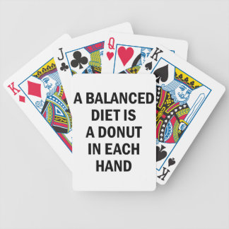 Baraja De Cartas Bicycle Dieta equilibrada