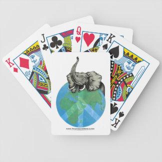 Baraja De Cartas Bicycle Diseño de la paz del elefante africano