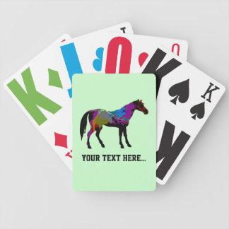 Baraja De Cartas Bicycle Diseño personalizado del caballo de raza en verde