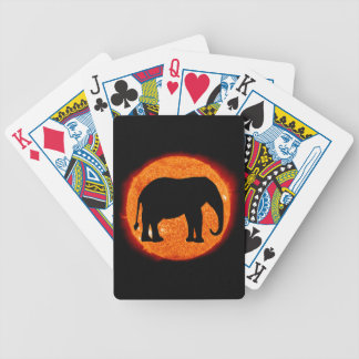 Baraja De Cartas Bicycle Eclipse solar del elefante