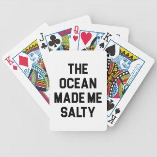 Baraja De Cartas Bicycle El océano me hizo salado