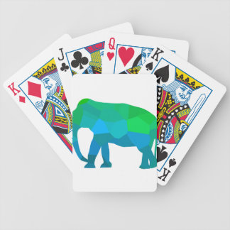 Baraja De Cartas Bicycle Elefante 1 del mosaico