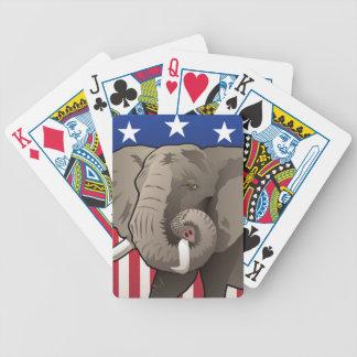 Baraja De Cartas Bicycle Elefante de los E.E.U.U., orgullo republicano