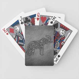 Baraja De Cartas Bicycle Elefante tribal de cuero
