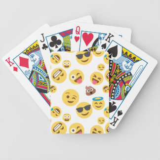 Baraja De Cartas Bicycle Emojis sonriente loco