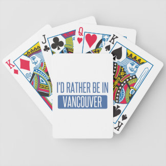 Baraja De Cartas Bicycle Estaría bastante en Vancouver
