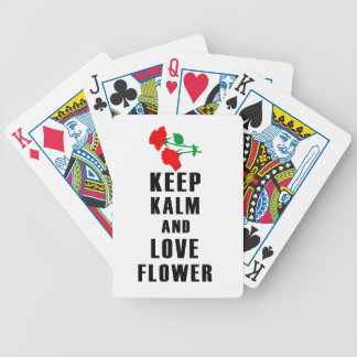 Baraja De Cartas Bicycle guarde la calma y ame la flor