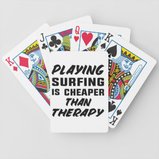 Baraja De Cartas Bicycle Jugar practicar surf es más barato que terapia