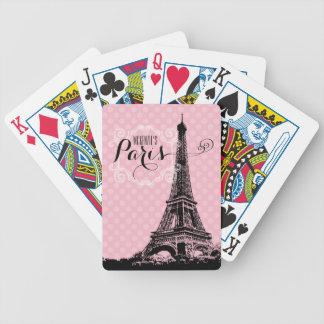 Baraja De Cartas Bicycle La torre Eiffel elegante de París añade nombre