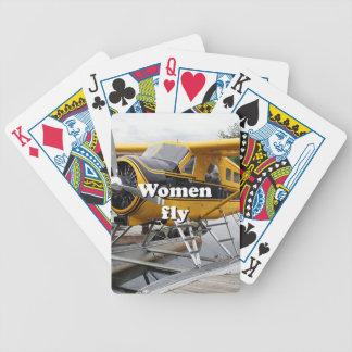 Baraja De Cartas Bicycle Las mujeres vuelan: avión del flotador, capilla