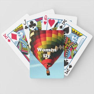 Baraja De Cartas Bicycle Las mujeres vuelan: globo del aire caliente