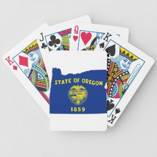 Baraja De Cartas Bicycle Mapa de la bandera de Oregon