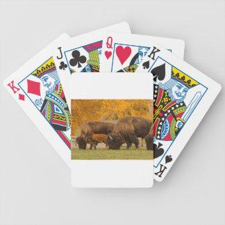 Baraja De Cartas Bicycle Nación de la familia del bisonte