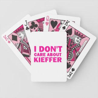 Baraja De Cartas Bicycle ¡No cuido sobre Kieffer!