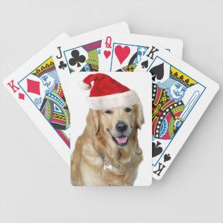 Baraja De Cartas Bicycle Perro-mascota de Labrador navidad-santa Claus