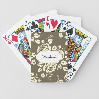 Baraja De Cartas Bicycle Plantilla-DISEÑO (c) Family-Name_Cards_Taupe-