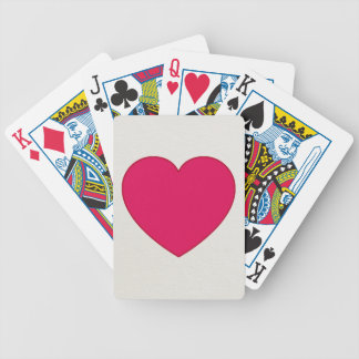 Baraja De Cartas Bicycle Reina del corazón del rojo cereza