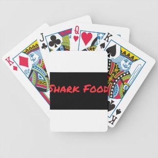 Baraja De Cartas Bicycle Rojo de la comida del tiburón