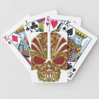 Baraja De Cartas Bicycle Rojo y cráneo del cráneo del azúcar del oro