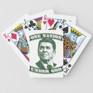 Baraja De Cartas Bicycle Ronald Reagan una nación debajo de dios