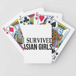 Baraja De Cartas Bicycle Sobreviví a chicas asiáticos