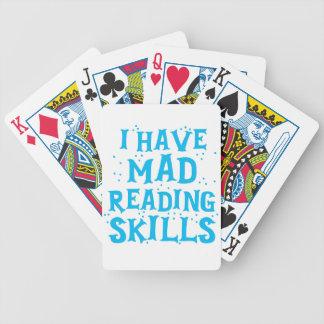 Baraja De Cartas Bicycle tengo habilidades de lectura enojadas