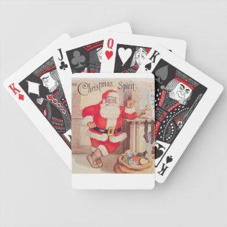 Baraja De Cartas Bicycle vintage-santa-christmas-post-cards-0355