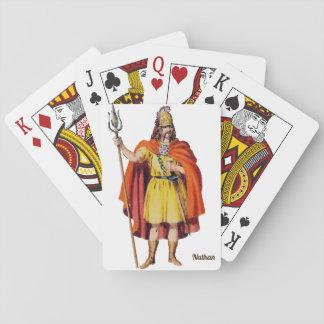 Baraja De Cartas Británico antiguo COSTUME~Personalised NATHAN~