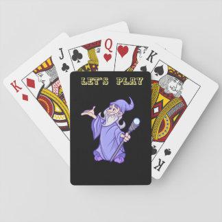 Baraja De Cartas Bruja púrpura mágica del mago del mago