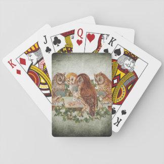Baraja De Cartas Búhos que juegan el póker