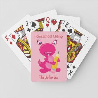 Baraja De Cartas Campeón rosado divertido de Homeschool del