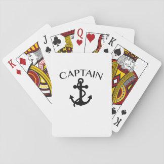 Baraja De Cartas Capitán de cruzar del canotaje de la navegación