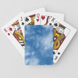 Baraja De Cartas Cielo azul con la foto de las nubes