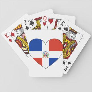 Baraja De Cartas Corazón de la bandera de la República Dominicana