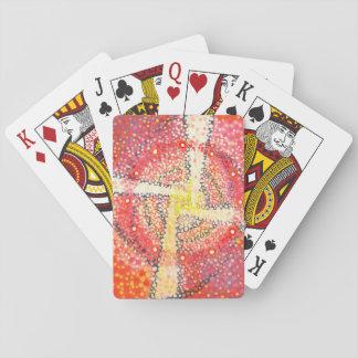 Baraja De Cartas Cruz blanca - tarjetas abstractas del fiesta