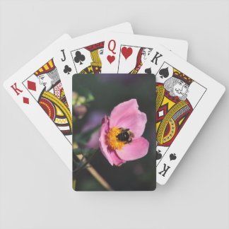 Baraja De Cartas Cubierta de tarjetas - flor Abeja-Rosada ocupada