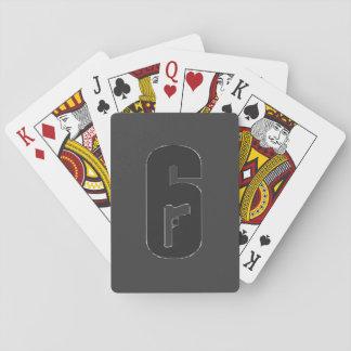 Baraja De Cartas Cubierta del cerco del arco iris seis de tarjetas
