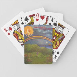 Baraja De Cartas Cubierta doble del arco iris de tarjetas
