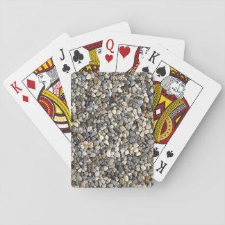 Baraja De Cartas Cubierta trasera del guijarro de tarjetas